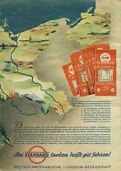 Rear of 1935 Esso Standard atlas of Germany
