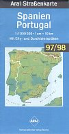 1997/8 Aral map of Spain/Portugal