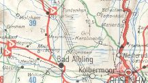 Rosenheim area from 1974 Deltin map
