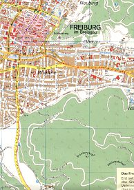 Extract from ca2002 Aral map of Freiburg