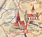 Freiburg from a 1953 Viscobil atlas
