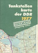 1977 Intertank map of East Germany (DDR)