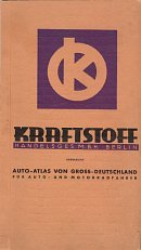 1939 Kraftstoff atlas of Germany