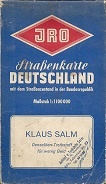 1960s Klaus Salm map of Germany