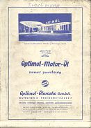 Optimol advert from rear cover of ca1968 JRO map of North Bavaria (Nuernberg)