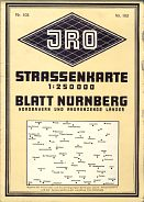 ca1968 JRO map of North Bavaria (Nuernberg)