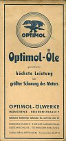 Optimol advert on rear of ca1952 JRO map