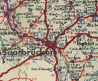 Extract from 1937 BV map showing the Saar