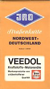 1964 Veedol map of NW Germany