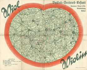 ca1938 Wiol map of the Erfurt area (map)