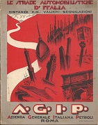 1933 Agip map of Italy