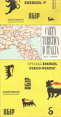 ca1956 Agip Map of Italy