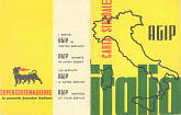 1950s Agip booklet map of Italy