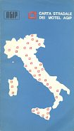 1966 booklet of maps for Agip motels