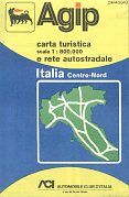 1976 Agip Centro-Nord map of Italy