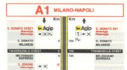 Extract from Agip strip map of 1987