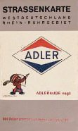 mid 1960s Adler map of Germany