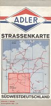 1969 Adler map of SW Deutschland