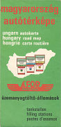 1974 Afor map of Hungary