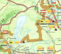 Extract from 1974 Afor map of Hungary