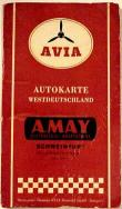 ca1955 Avia (A May) map of West Germany