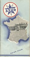 1955 Guide Azur (map booklet of France)