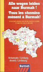 mid 90s Burmah atlas of Belgium