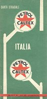 1956 Petrol Caltex map of Italy