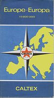 1958 Caltex map of Europe