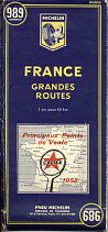 1958 Caltex map of France