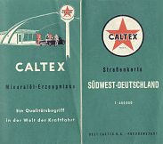 ca1964 Oest Caltex map of SW Germany