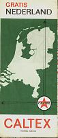 1966 Caltex map of the Netherlands