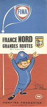 1961 Fina map of France Nord