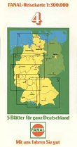 1981 Fanal map of Germany section 4