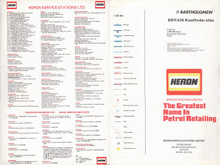Front pages from 1979 Heron atlas of Britain