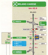 Strip map from 1991 IP atlas of Italy