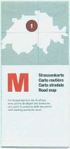 1985 Migros sectional Map of Switzerland