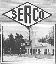 Serco logo and service station
