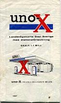 1967 Uno-X map of Sweden