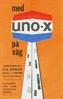 1972 Uno-X map of Sweden