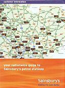 1999 Sainsbury's map for Fuelcard holders