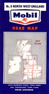 ca1960 Mobil map 5 of Britain