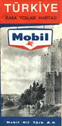 Early 1960s Mobil map of Turkey