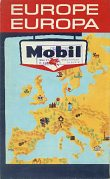 1964 Mobil Map of Europe