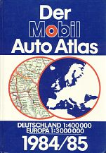 1984-5 Mobil atlas of Germany