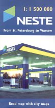 Neste map: St Petersburg to Warsaw