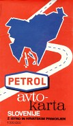 1976 Petrol map of Slovenia
