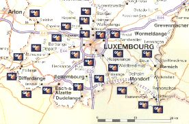 Luxembourg from the 2001 Q8 map of Belgium