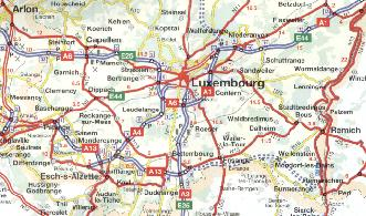 Luxembourg from the 2002 Humo/Q8 map of Belgium