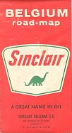 1967 Sinclair map of Belgium - rear